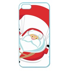 Skydiving Christmas Santa Claus Apple Seamless Iphone 5 Case (color)