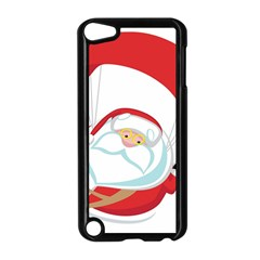 Skydiving Christmas Santa Claus Apple Ipod Touch 5 Case (black)
