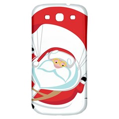 Skydiving Christmas Santa Claus Samsung Galaxy S3 S Iii Classic Hardshell Back Case