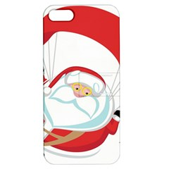Skydiving Christmas Santa Claus Apple Iphone 5 Hardshell Case With Stand by Alisyart