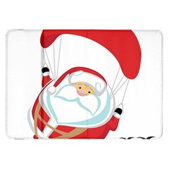 Skydiving Christmas Santa Claus Samsung Galaxy Tab 8 9  P7300 Flip Case