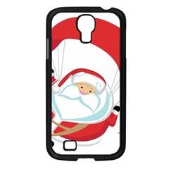 Skydiving Christmas Santa Claus Samsung Galaxy S4 I9500/ I9505 Case (black) by Alisyart
