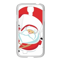 Skydiving Christmas Santa Claus Samsung Galaxy S4 I9500/ I9505 Case (white)