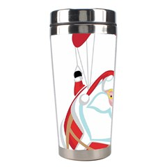Skydiving Christmas Santa Claus Stainless Steel Travel Tumblers