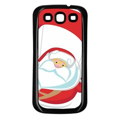 Skydiving Christmas Santa Claus Samsung Galaxy S3 Back Case (black)