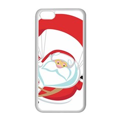 Skydiving Christmas Santa Claus Apple Iphone 5c Seamless Case (white)