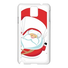 Skydiving Christmas Santa Claus Samsung Galaxy Note 3 N9005 Case (white)