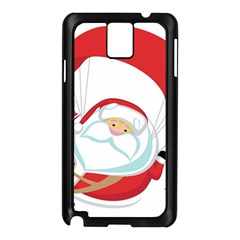 Skydiving Christmas Santa Claus Samsung Galaxy Note 3 N9005 Case (black)