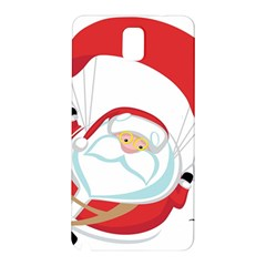 Skydiving Christmas Santa Claus Samsung Galaxy Note 3 N9005 Hardshell Back Case