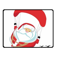 Skydiving Christmas Santa Claus Double Sided Fleece Blanket (small)