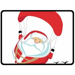 Skydiving Christmas Santa Claus Double Sided Fleece Blanket (large)