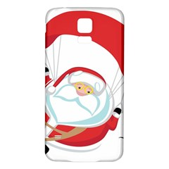 Skydiving Christmas Santa Claus Samsung Galaxy S5 Back Case (white)