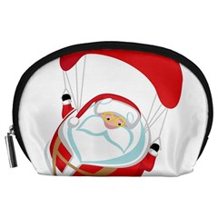 Skydiving Christmas Santa Claus Accessory Pouches (large)