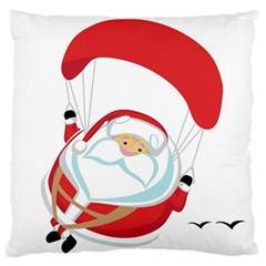 Skydiving Christmas Santa Claus Standard Flano Cushion Case (two Sides)