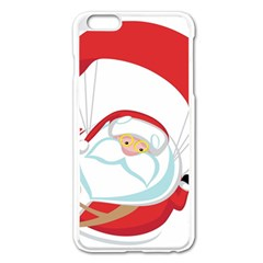 Skydiving Christmas Santa Claus Apple Iphone 6 Plus/6s Plus Enamel White Case by Alisyart