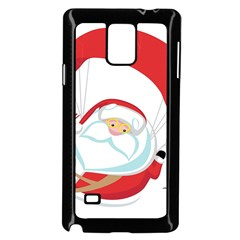 Skydiving Christmas Santa Claus Samsung Galaxy Note 4 Case (black)