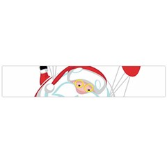 Skydiving Christmas Santa Claus Large Flano Scarf