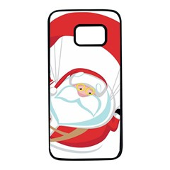Skydiving Christmas Santa Claus Samsung Galaxy S7 Black Seamless Case