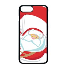 Skydiving Christmas Santa Claus Apple Iphone 7 Plus Seamless Case (black)