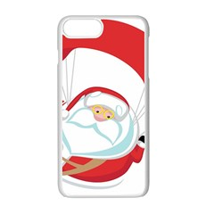 Skydiving Christmas Santa Claus Apple Iphone 7 Plus Seamless Case (white)