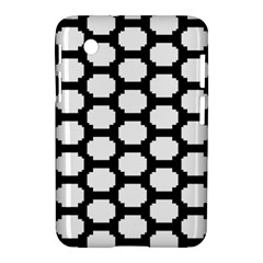 Tile Pattern Black White Samsung Galaxy Tab 2 (7 ) P3100 Hardshell Case  by Alisyart
