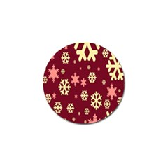 Snowflake Winter Illustration Colour Golf Ball Marker (4 Pack) by Alisyart