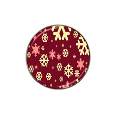 Snowflake Winter Illustration Colour Hat Clip Ball Marker (4 Pack) by Alisyart