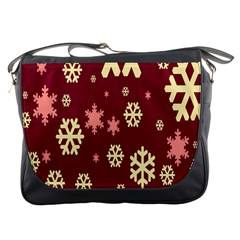 Snowflake Winter Illustration Colour Messenger Bags by Alisyart