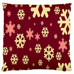 Snowflake Winter Illustration Colour Large Cushion Case (one Side) by Alisyart