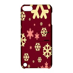 Snowflake Winter Illustration Colour Apple Ipod Touch 5 Hardshell Case With Stand by Alisyart