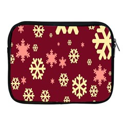 Snowflake Winter Illustration Colour Apple Ipad 2/3/4 Zipper Cases by Alisyart