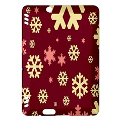 Snowflake Winter Illustration Colour Kindle Fire Hdx Hardshell Case by Alisyart