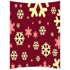 Snowflake Winter Illustration Colour Back Support Cushion by Alisyart