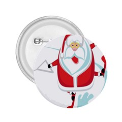 Surfing Snow Christmas Santa Claus 2 25  Buttons by Alisyart