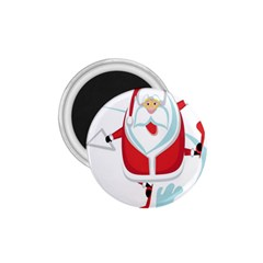 Surfing Snow Christmas Santa Claus 1 75  Magnets by Alisyart