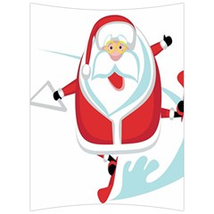 Surfing Snow Christmas Santa Claus Back Support Cushion by Alisyart