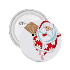 Surfing Christmas Santa Claus 2 25  Buttons by Alisyart