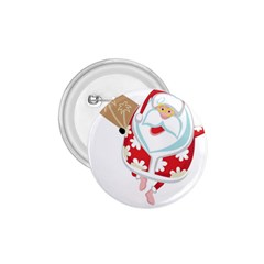 Surfing Christmas Santa Claus 1 75  Buttons by Alisyart
