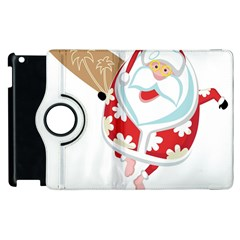 Surfing Christmas Santa Claus Apple Ipad 2 Flip 360 Case by Alisyart