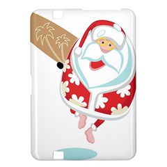 Surfing Christmas Santa Claus Kindle Fire Hd 8 9  by Alisyart
