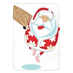 Surfing Christmas Santa Claus Flap Covers (s)  by Alisyart