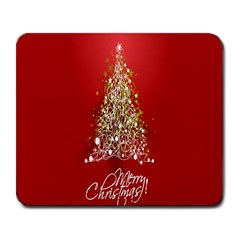 Tree Merry Christmas Red Star Large Mousepads by Alisyart