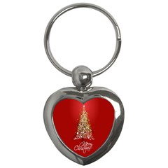 Tree Merry Christmas Red Star Key Chains (heart)  by Alisyart