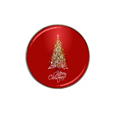 Tree Merry Christmas Red Star Hat Clip Ball Marker by Alisyart