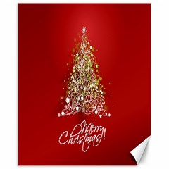 Tree Merry Christmas Red Star Canvas 16  X 20   by Alisyart