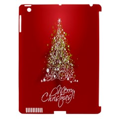 Tree Merry Christmas Red Star Apple Ipad 3/4 Hardshell Case (compatible With Smart Cover) by Alisyart