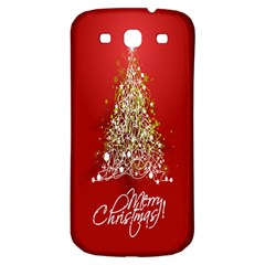 Tree Merry Christmas Red Star Samsung Galaxy S3 S Iii Classic Hardshell Back Case by Alisyart