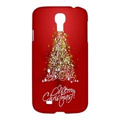Tree Merry Christmas Red Star Samsung Galaxy S4 I9500/i9505 Hardshell Case by Alisyart