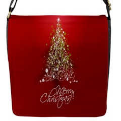 Tree Merry Christmas Red Star Flap Messenger Bag (s) by Alisyart