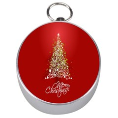 Tree Merry Christmas Red Star Silver Compasses by Alisyart